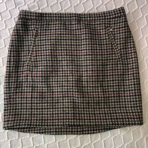 J. Crew Houndstooth Wool Skirt Size 12. Never Worn